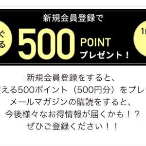 新規登録で500ポイントもらえてお得ポチできます!