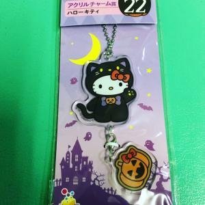 頂きもののキティちゃんハロウィン黒猫バージョンキティかわいい猫が猫の着ぐるみだけ...