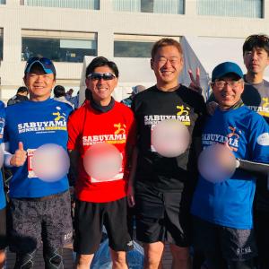 湘南国際マラソンを走った親じ会のみんな。