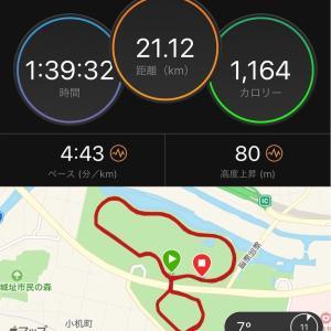 ハーフ走@新横浜公園。カナ先生のペーサーとして。