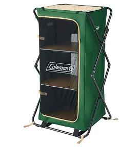 キャンプ道具の整理整頓に便利な大容量キャビネット!!