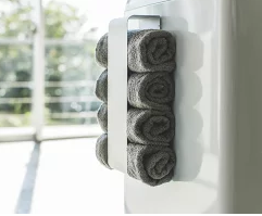 洗濯機や壁面にバスタオルを丸めてコンパクトに収納できるバスタオルホルダー!!
