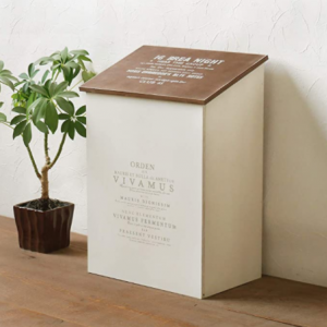 ふた付き 木製 ゴミ箱!ゴミ箱に見えないスッキリしたデザイン!