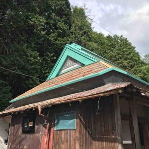 古民家再生 屋根入母屋部の塗装