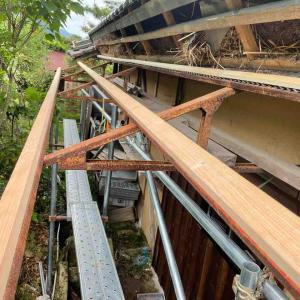 古民家再生 屋根の幕板