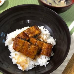 鰻、食べたよ。我が家流。