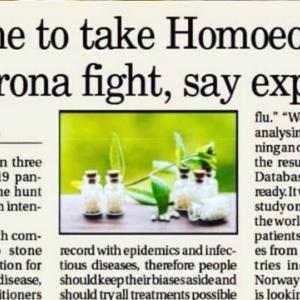 コロナウィルスとの戦いに ホメオパシーを選ぶ時が来た‼️