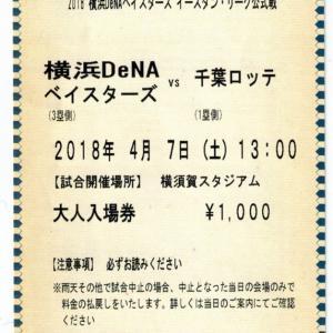 2018年4月7日 千葉ロッテvs横浜DeNA (横須賀) の感想