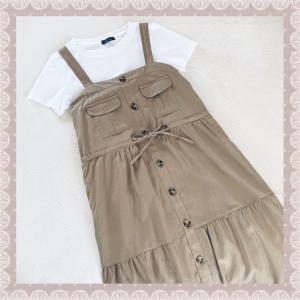 アベイル購入品♡季節の変わり目にもピッタリ♪ティアードジャンパースカート♡しまむら最新チラシ♡♡