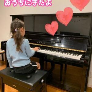 ♪アップライトピアノが来たよ〜!