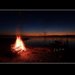 七尾西湾の夜明け