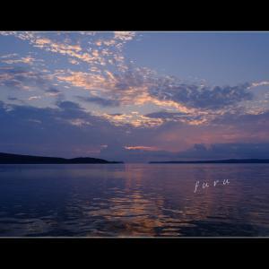 七尾湾小口瀬戸からの日の出