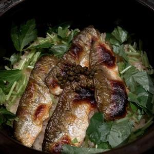 鮎と実山椒の土鍋ごはん