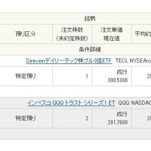 QQQ2口、TECL1口と、10万円分購入しました。