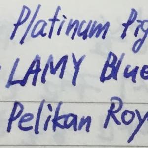 青紫系インク
