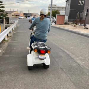 ノブキバイク乗る!?
