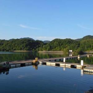 5月30日、鮎川湖。