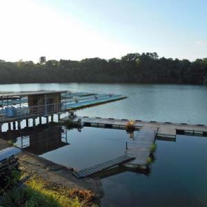 6月20日、鮎川湖。