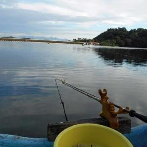 8月13日、鮎川湖。