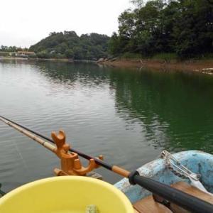 6月18日、平日釣行で鮎川湖。