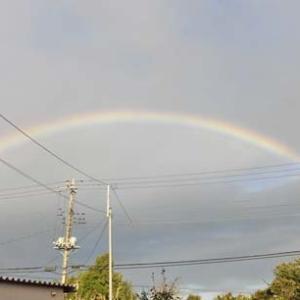 早朝の虹?!