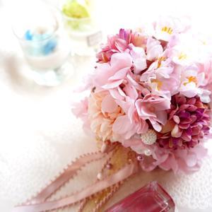 桜が可愛いフラワーボールを娘と受講!オンラインレッスンはメリットもたくさん。