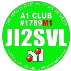 A1 Clubのミレニアムメンバー証メダル画像