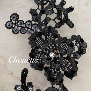 black haute couture broderie