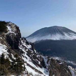 【山行記録】黒斑山から見るガトーショコラの浅間山。