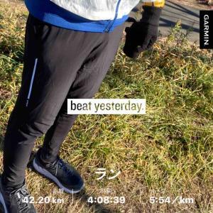 大晦日に単独フルマラソンを走ってみた。