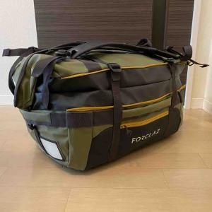 旅行やキャンプに!デカトロン・FORCLAZ(フォルクラ)TRANSPORT BAG 40-60L
