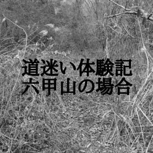 六甲山でまさかの遭難。