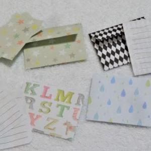 【作り方】折り紙1枚で作るミニレターセット