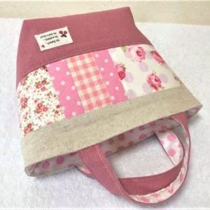 【無料型紙】はぎれ消費!パッチワークミニトートバッグの作り方