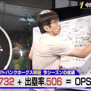 石橋貴明「長打率は2塁打3塁打、長打を打った率」