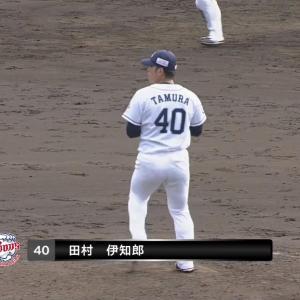 西武田村の力強いストレート!