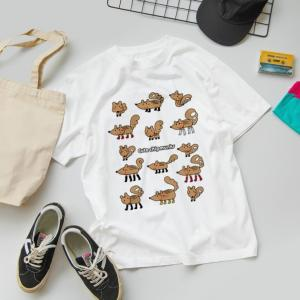 SUZURIさんオータムセール開催中♥可愛らしいシマリスくんたちのイラストTシャツを作ってみました(*^-^*)