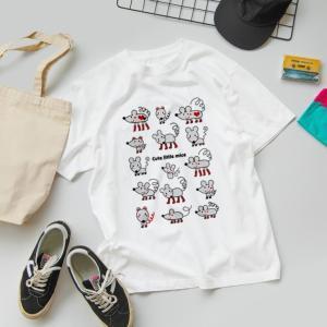 SUZURIさんオータムセール開催中♥可愛らしいねずみさんたちのイラストTシャツを作ってみました(*^-^*)