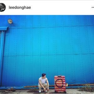 ペインティングしたキャリーケースと♡ Donghae IG~☆