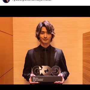 「GQ MEN OF THE YEAR 2019」受賞式!朝の番組より~☆