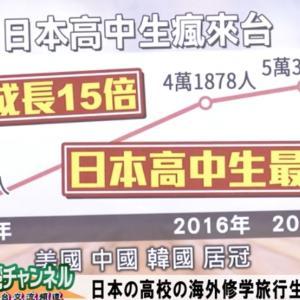 [桜R1/11/30]【台湾CH Vol.306】最も好きな国は「日本」が断然トップ!台湾「対日観」世論調査分析 / 高校の海外修学旅行先で「台湾」が第1位
