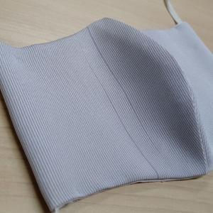 正絹小紋で絹マスク作成