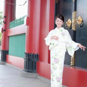 ミセスインターナショナルのyoshimi様の夏着物