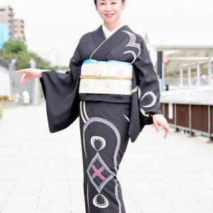 ミセスインターナショナルのyoshimi様に高級レンタル着物を着て頂きました