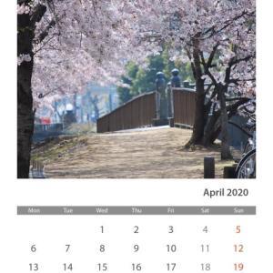 パン❤︎自作カレンダー❤︎ムスカリ❤︎誕生花(桜)