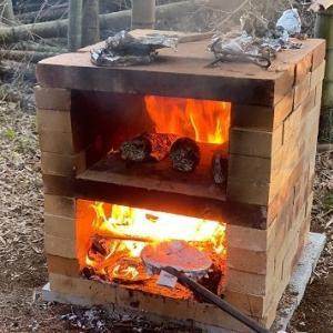 竹林キャンプ場にピザ窯を作ったよ! ピザ窯の作り方