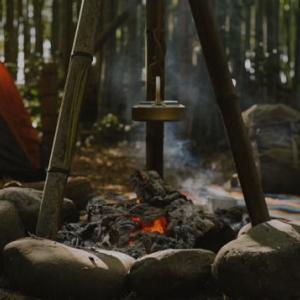 【自作トライポッド】竹で三脚ポットハンガーを作成!【ブッシュクラフトキャンプ】