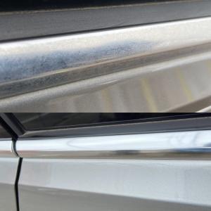 【ベンツ】欧州車のアルミモールの白サビ除去にはこれ!【BMW】