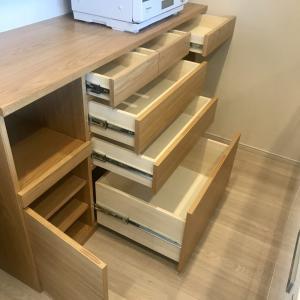 造作カップボード(食器棚)悩んだ引き出しの高さと中身公開!