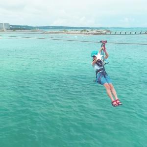海の上を爽快に滑走!メガジップ&ドローン空撮で最高の旅体験@シェラトン沖縄